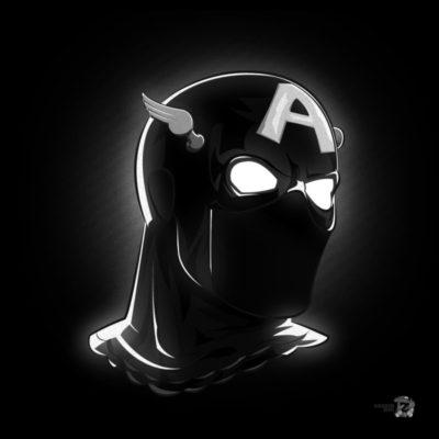 Noir Masks - Captain America