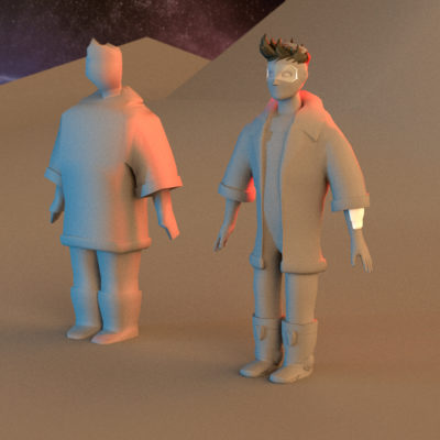 Is the final look and feel set, I start drawing a left and side few as base for the 3D modeling.