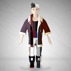 Joey –  WIP – lowpoly mobile game character