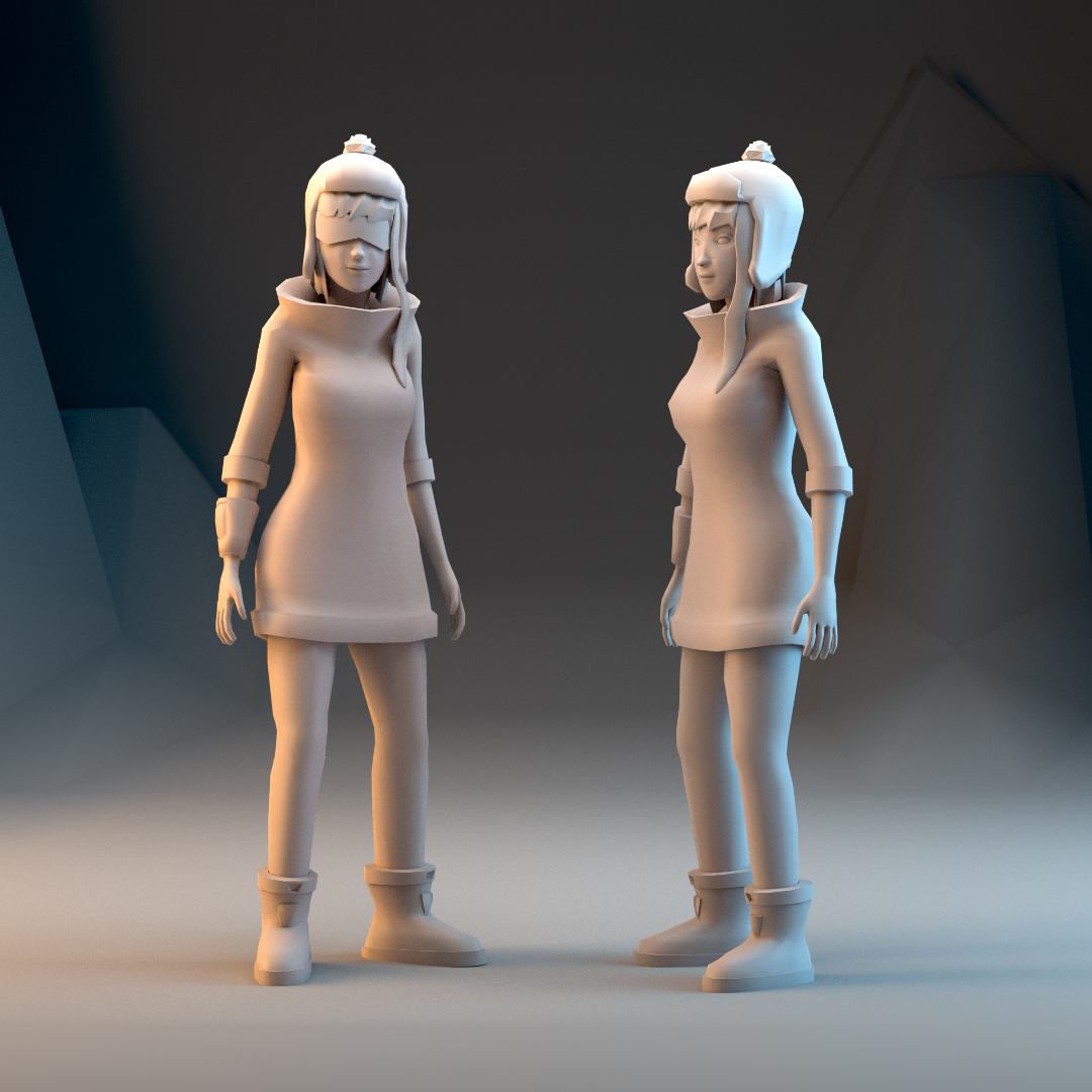 Two new 3D lowpoly character models – Design-Zoo