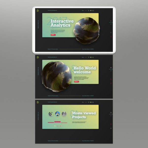 DZ-Interactive Analytics – Screendesign Version 1